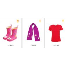 Cartonașe educative - îmbrăcăminte