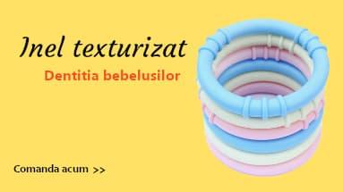 Inel texturizat pentru dentitia bebelusilor